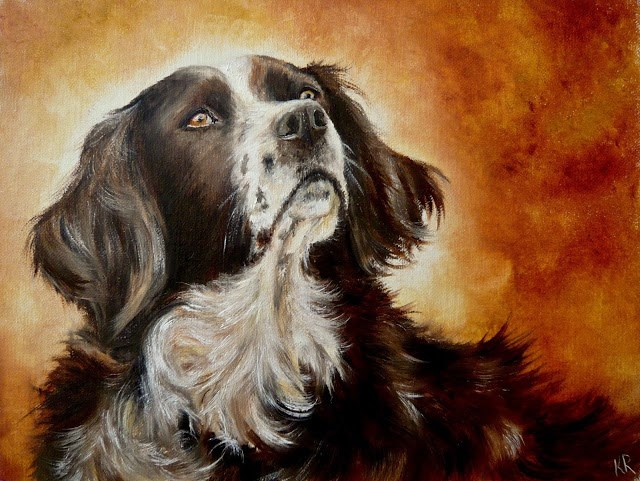"""""""An Old Friend"""" original fine art by Karen Robinson"""