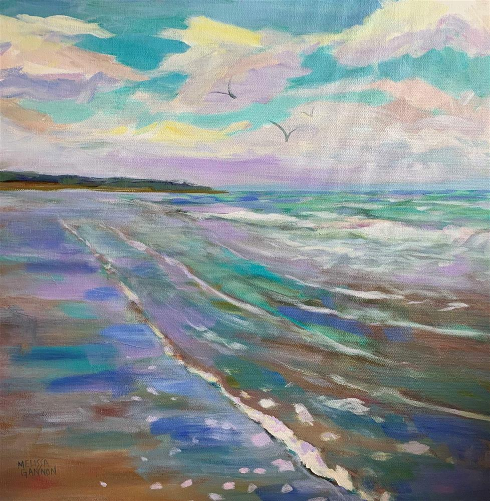 """Song of Ocean & Clouds"" original fine art by Melissa Gannon"