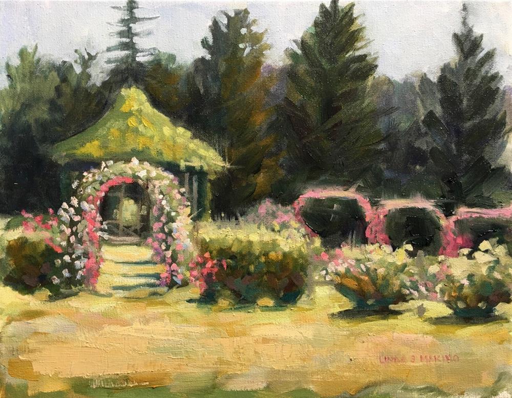 """Summer Heat Rose Peak, Elizabeth Park, Hartford, C"" original fine art by Linda Marino"