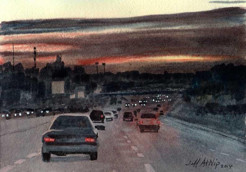 """Almost Home"" original fine art by Jeff Atnip"