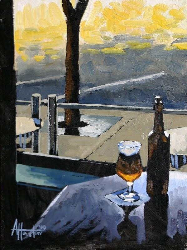 """""""Looking Outside"""" original fine art by Adam Houston"""