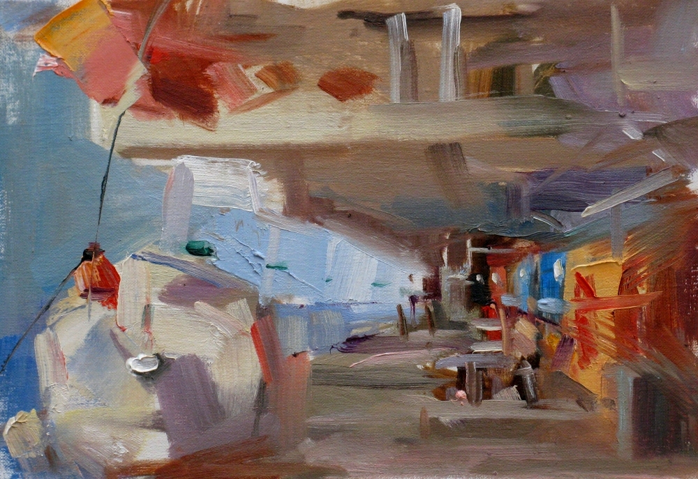 """""""On a Cruise"""" original fine art by Qiang Huang"""