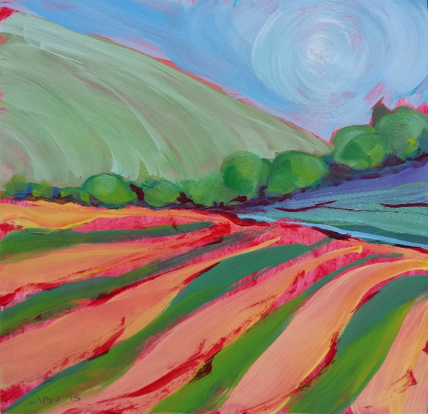 """Valley Morning 32"" original fine art by Pam Van Londen"