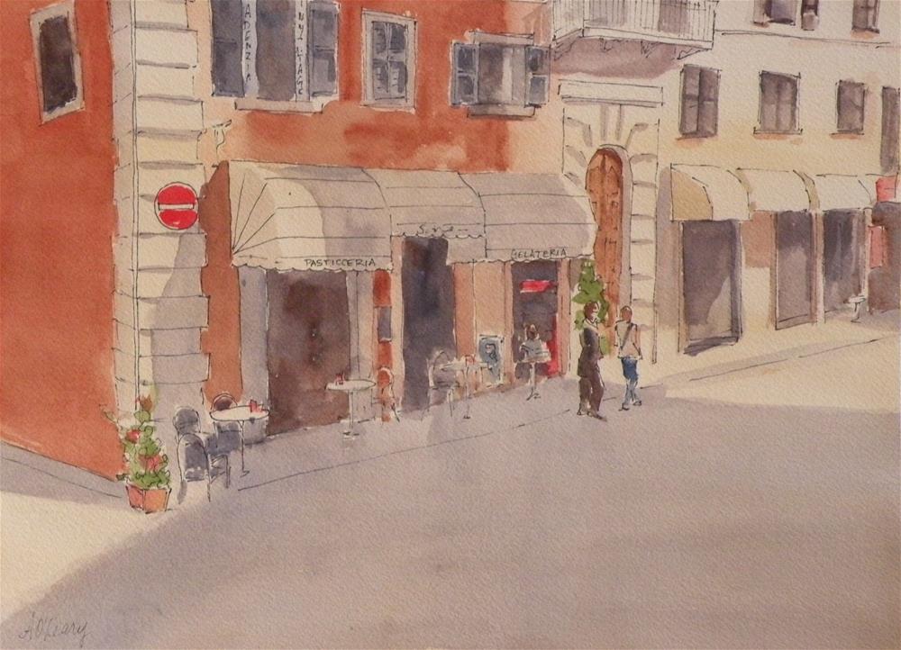 """""""Citta Della Pieve Street"""" original fine art by Alice O'Leary"""
