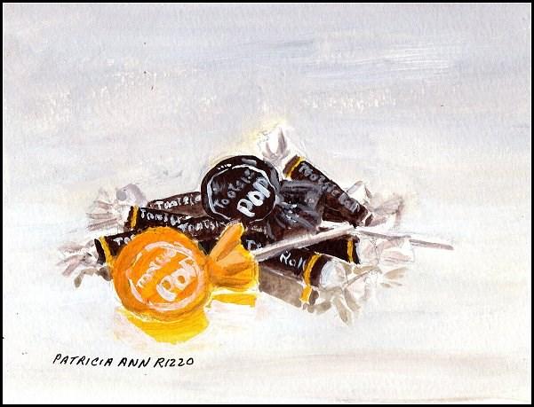 """Pile of Tootsies #2"" original fine art by Patricia Ann Rizzo"