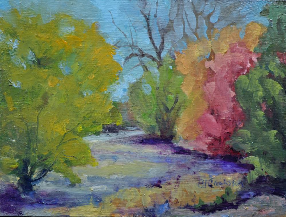"""Walk Along the Trail"" original fine art by Catherine Crookston"