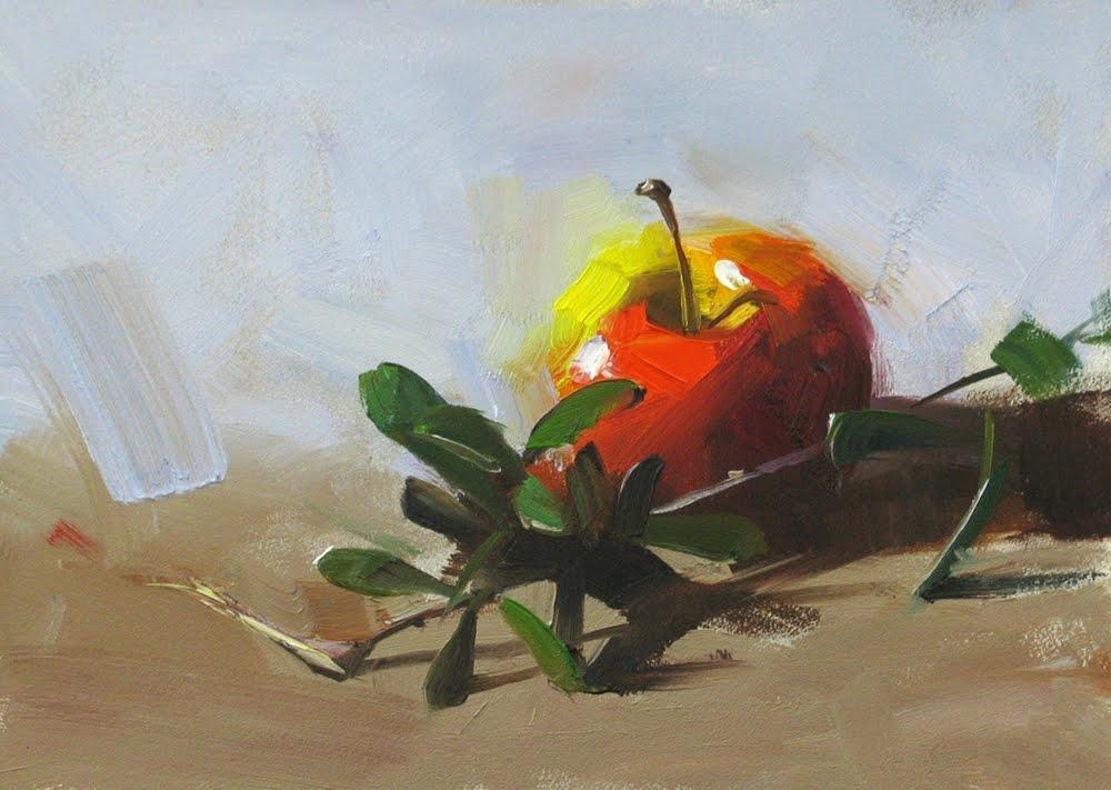 """Live Oak Live Apple"" original fine art by Qiang Huang"