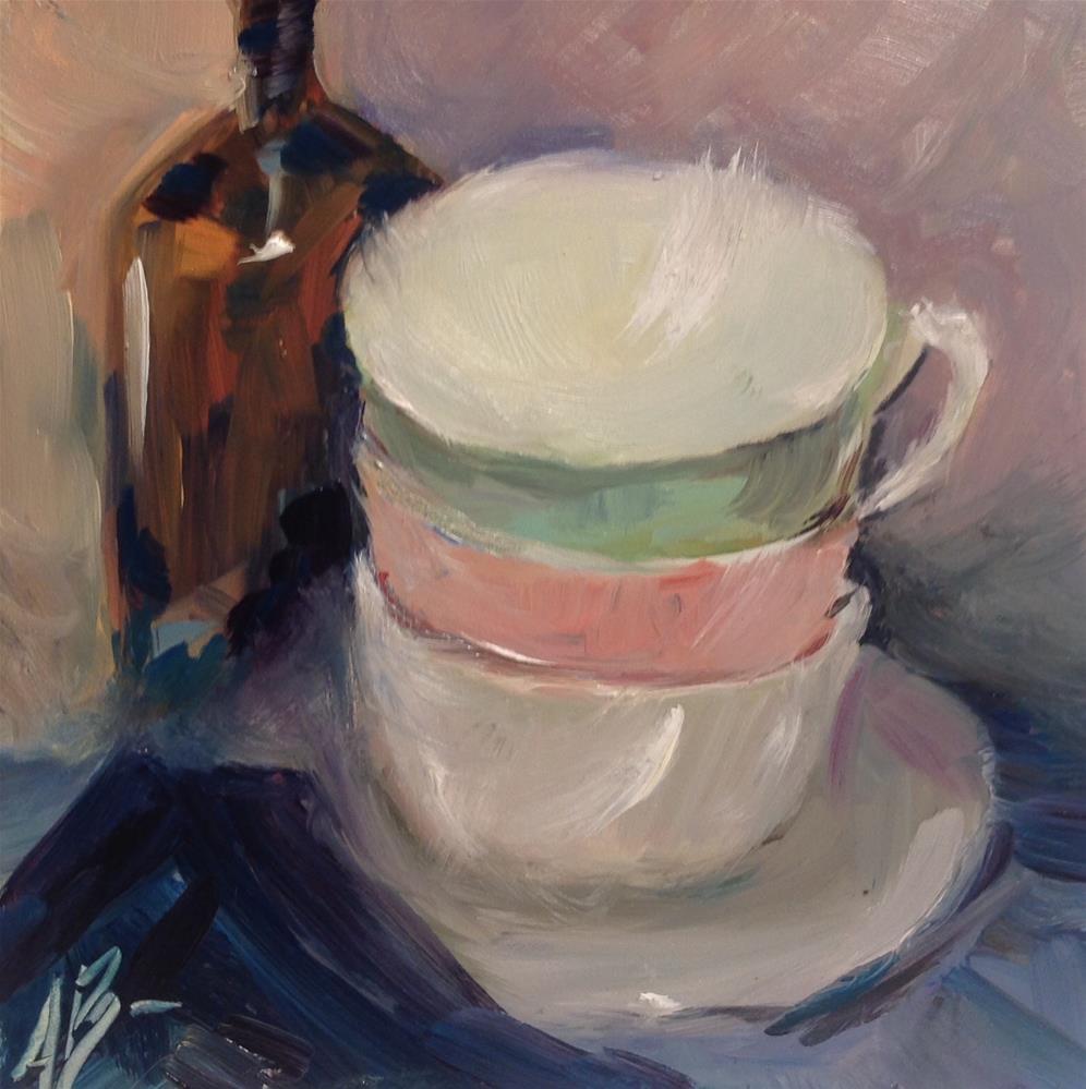 """""""Ready for coffee break"""" original fine art by Annette Balesteri"""