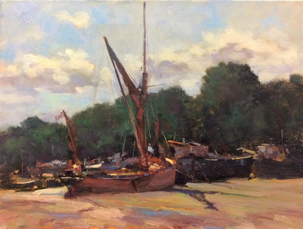 """Melissa at Pin Mill"" original fine art by John Shave"