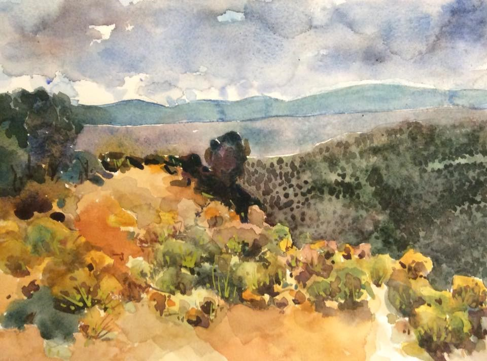 """White Rock Overlook"" original fine art by Marita Hines"