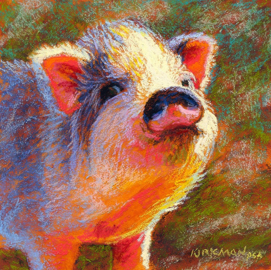 """Petunia"" original fine art by Rita Kirkman"