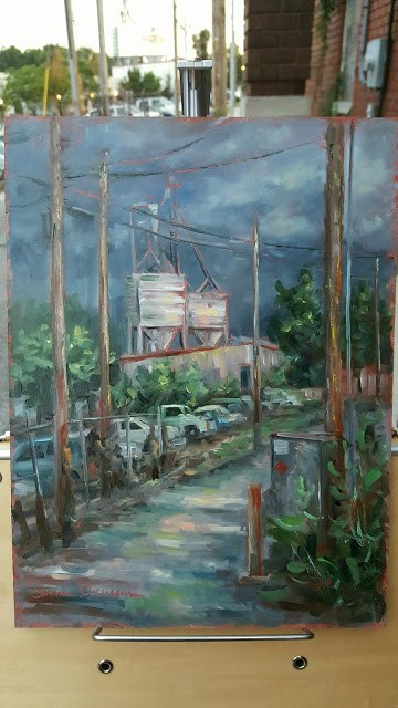 """""""The Mill from the Alley"""" original fine art by Tammie Dickerson"""