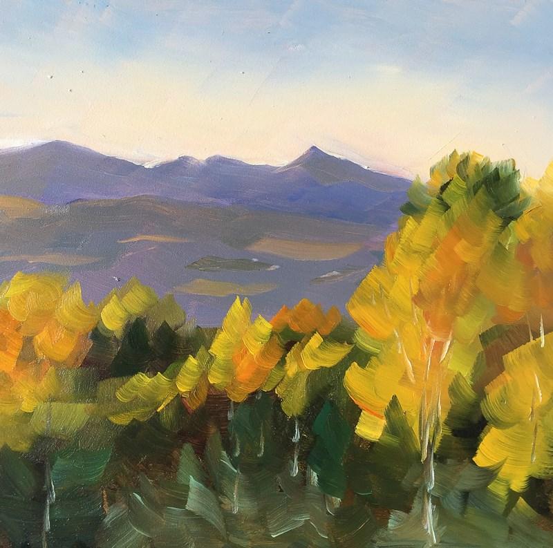 """#37 - Last Light on Changing Foliage"" original fine art by Sara Gray"