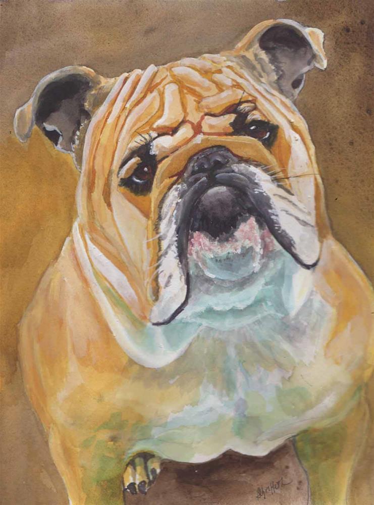"""""""Bull Dog"""" original fine art by Bunny Griffeth"""