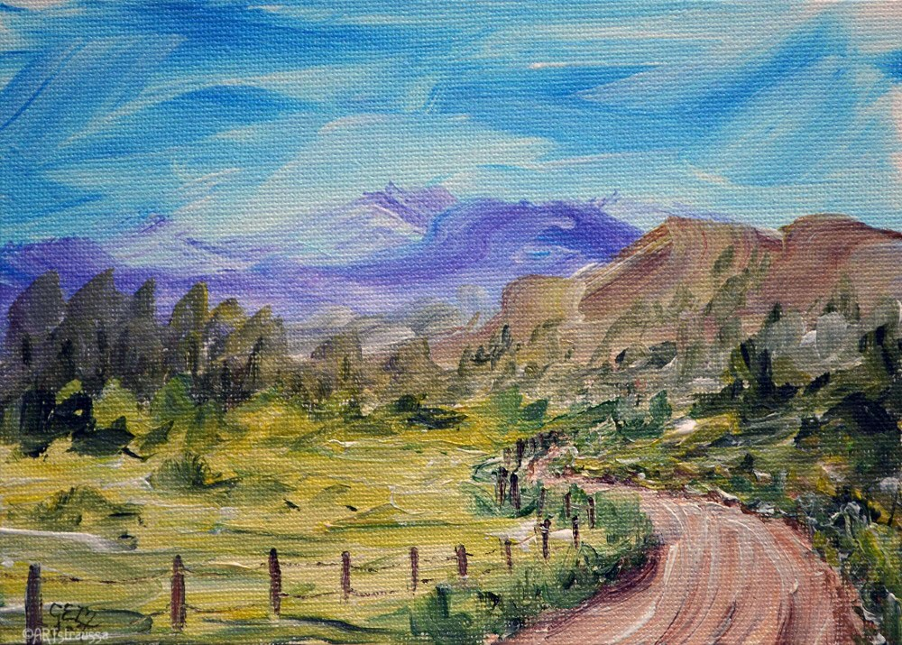 """SALE!!! Root Mountains"" original fine art by Gloria Ester"