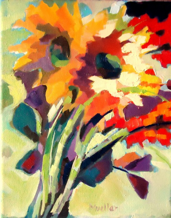 """Abstract in Bloom"" original fine art by Laurie Mueller"