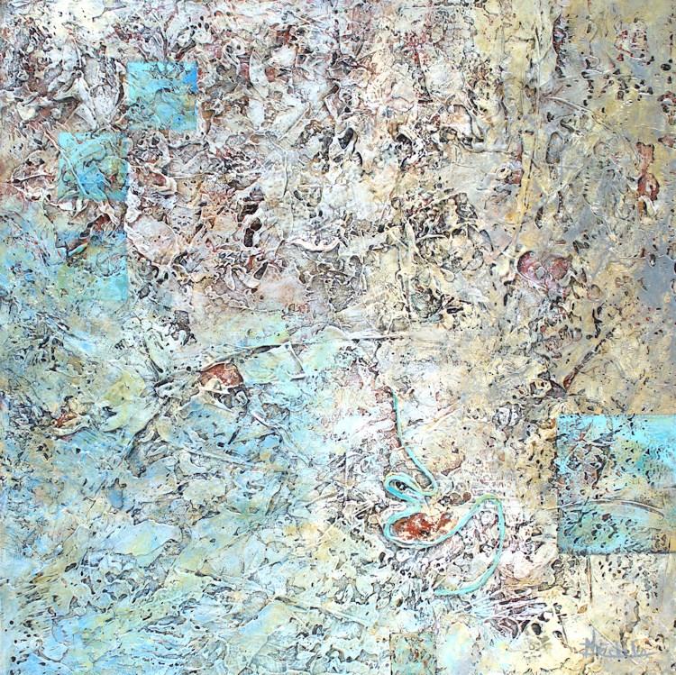"""Squiggle"" original fine art by Nancy Eckels"