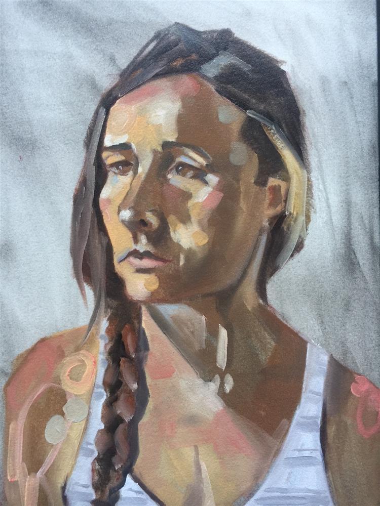 """578 Barbara with a Braid"" original fine art by Jenny Doh"