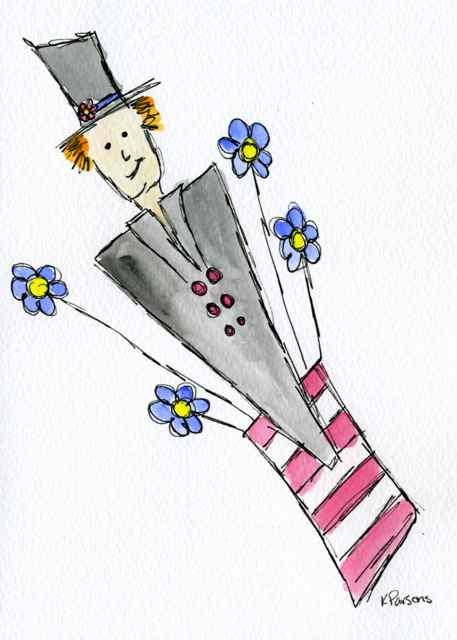 """""""Red, White, and Blue Dude"""" original fine art by Kali Parsons"""