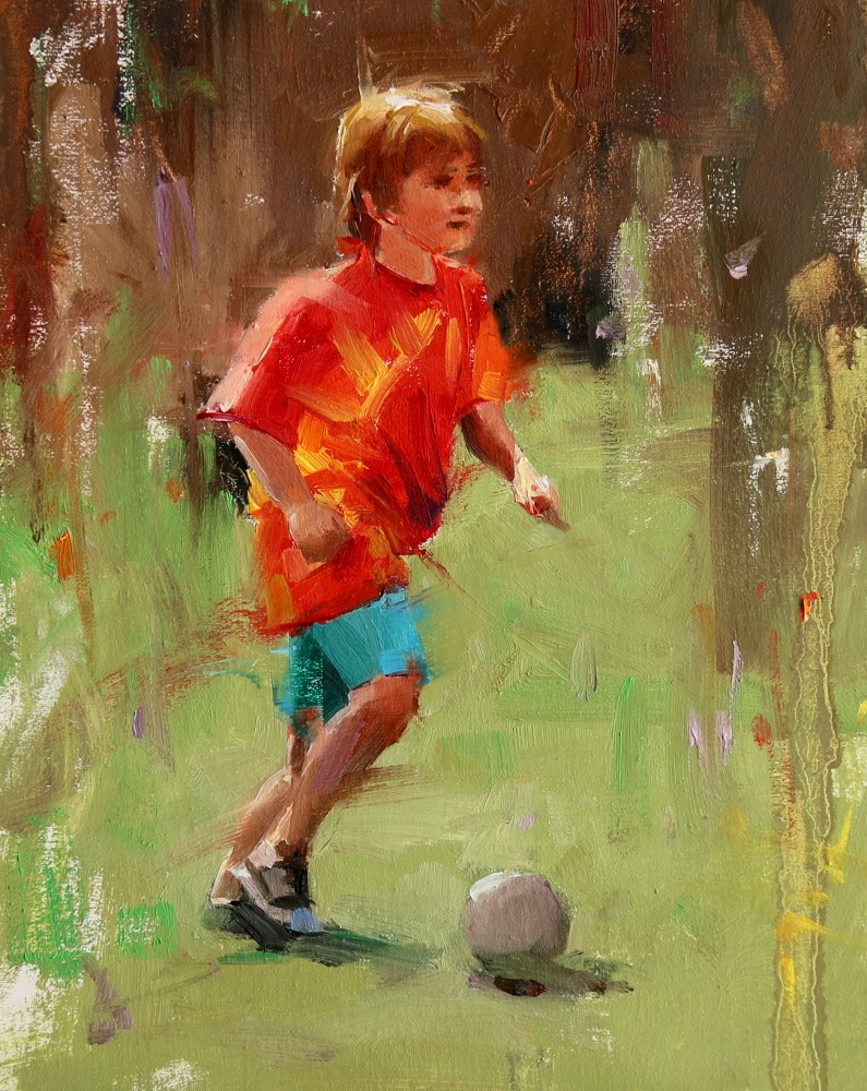 """Future Star"" original fine art by Qiang Huang"
