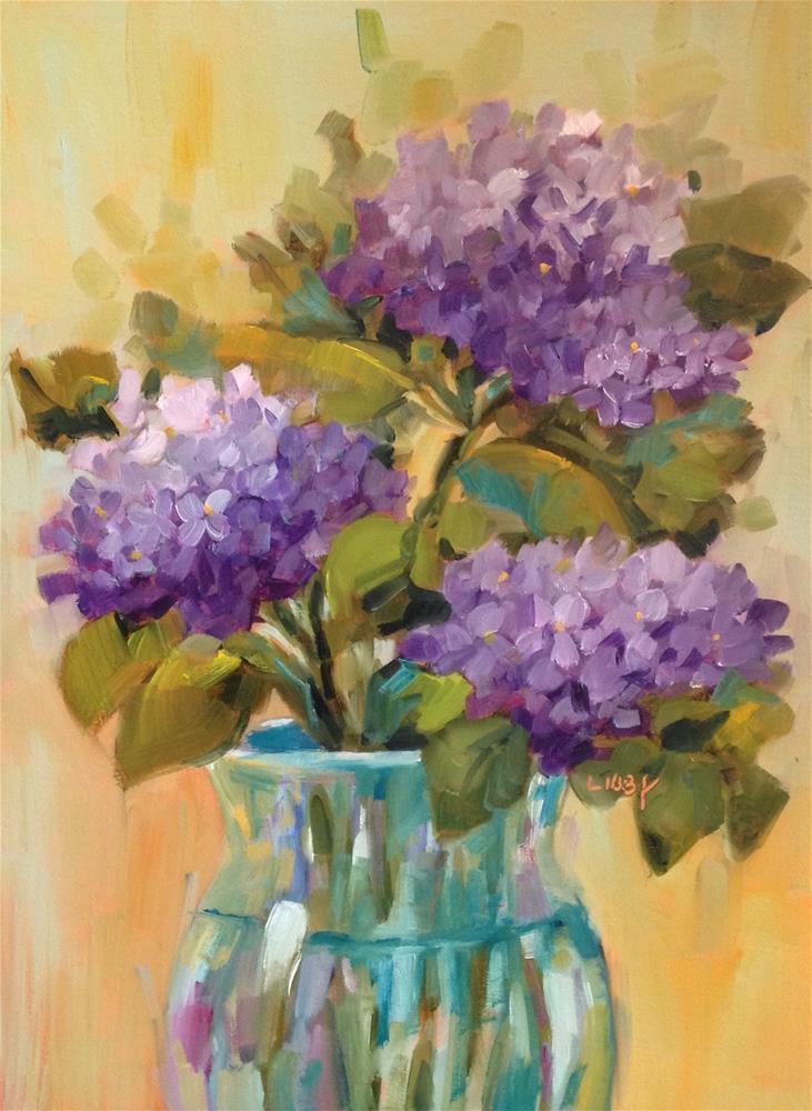 """Hydrangea Magic"" original fine art by Libby Anderson"