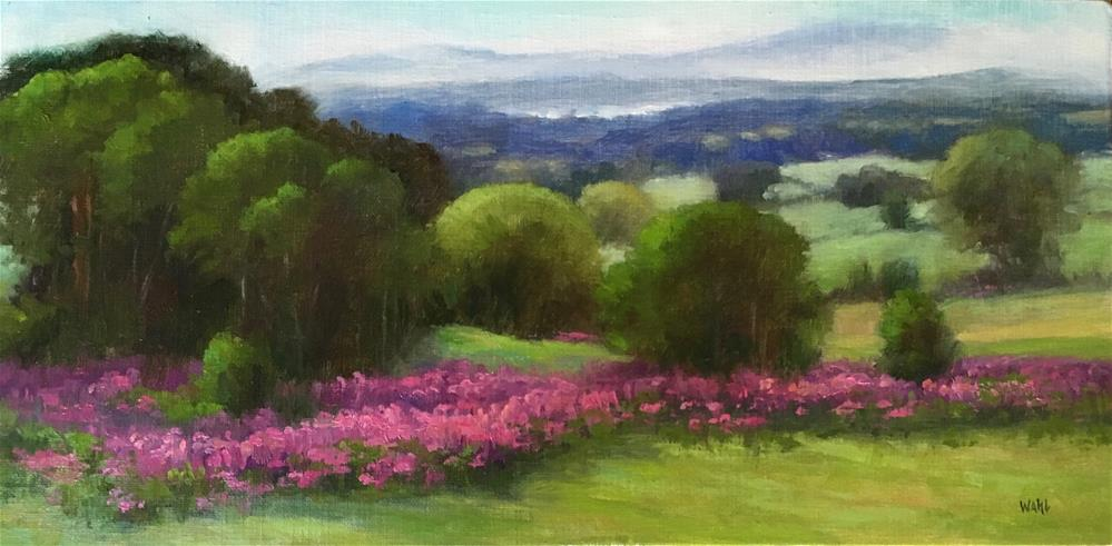 """Scottish Countryside"" original fine art by Nancy Wahl"