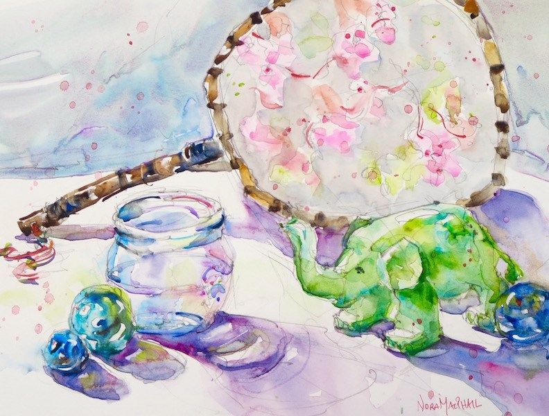 """""""in the clear"""" original fine art by Nora MacPhail"""