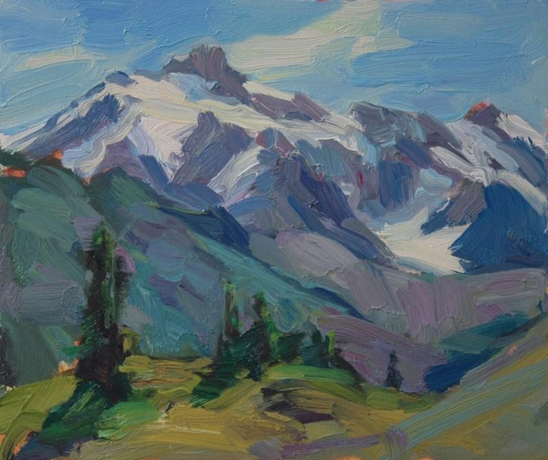 """Mt. Shuksan from Artist Point"" original fine art by Kathryn Townsend"