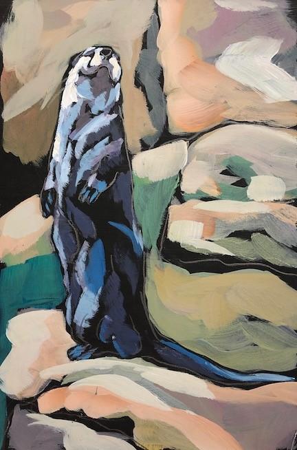 """Otter Up"" original fine art by Kat Corrigan"