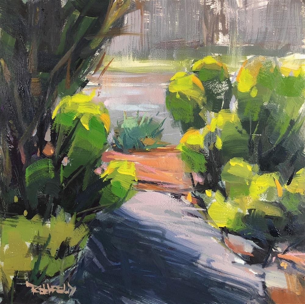 """""""Garden Euphorbia"""" original fine art by Cathleen Rehfeld"""