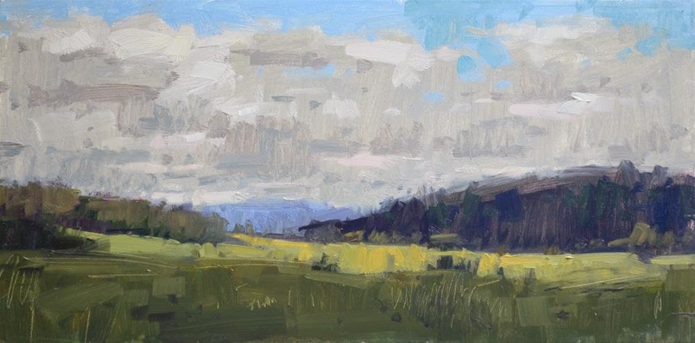 """""""Mostly Cloudy"""" original fine art by Carol Marine"""