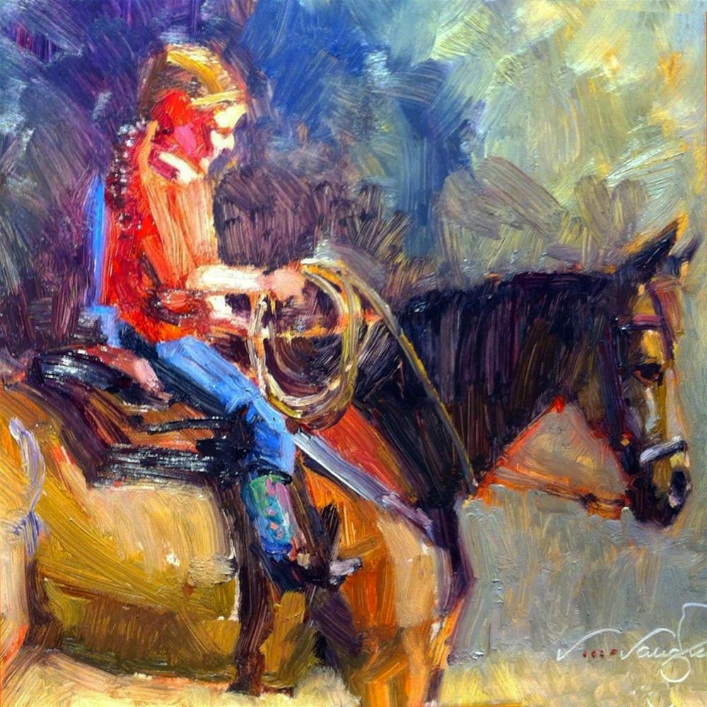 """Friend Me, Makenzie-My Favorite Social Media"" original fine art by V.... Vaughan"