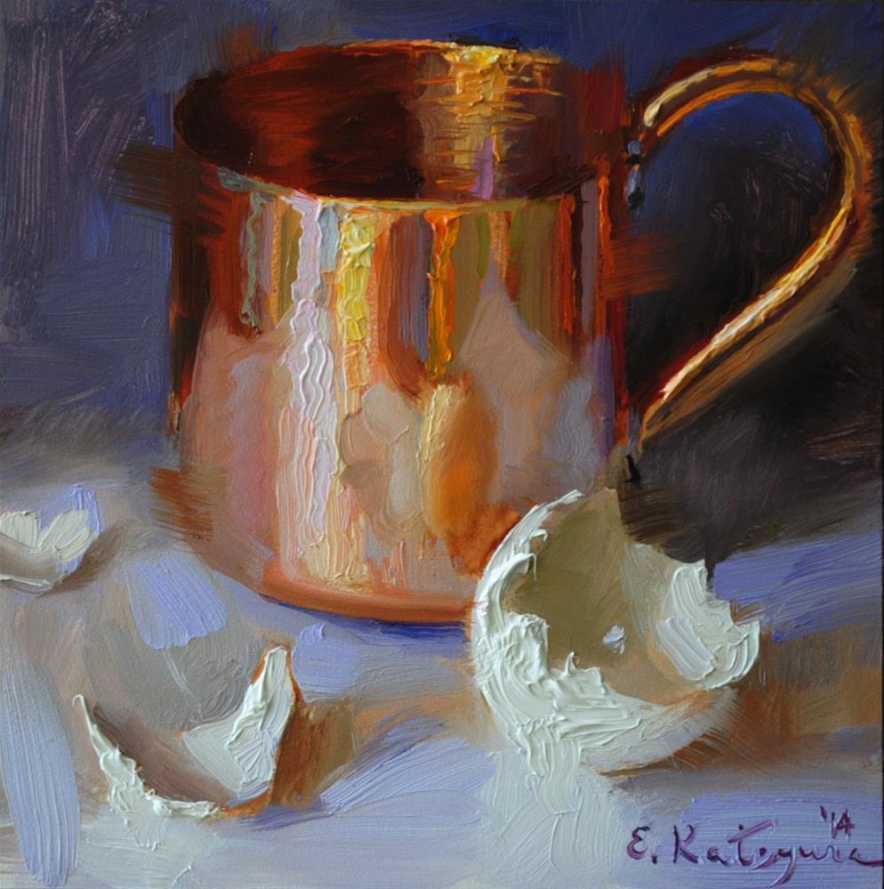 """""""Copper and Eggshell"""" original fine art by Elena Katsyura"""