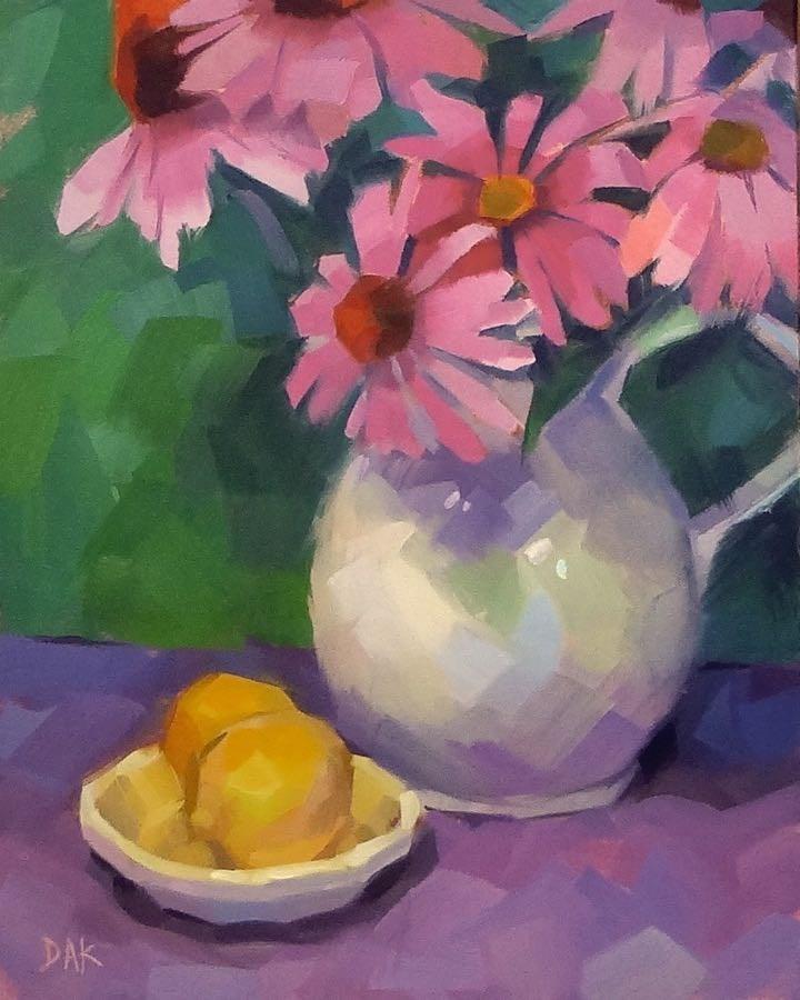 """""""Purple Cone Display"""" original fine art by Deborah Ann Kirkeeide"""