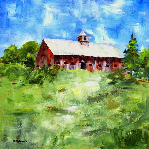 """Barn #23"" original fine art by Anna Vreman"