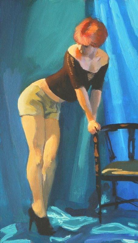"""Dressing up"" original fine art by Peter Orrock"