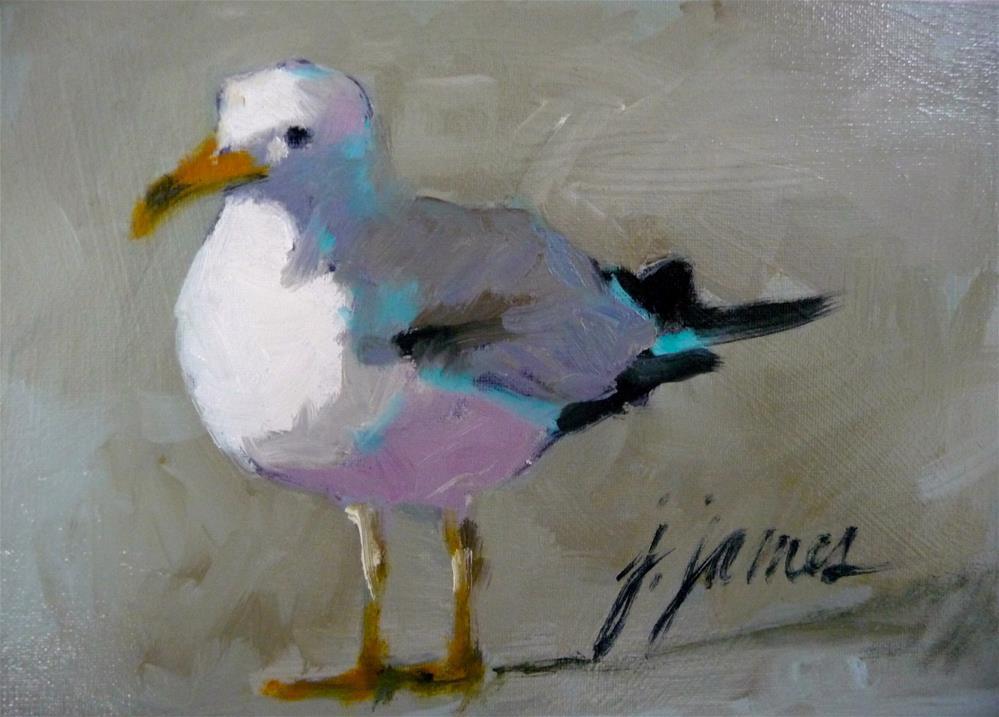 """""""Sea Bird"""" original fine art by Jini James"""