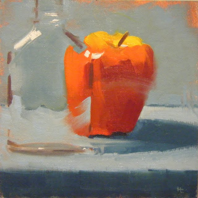 """APPLE APP"" original fine art by Helen Cooper"