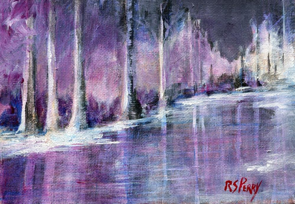 """First Snow "" original fine art by R. S. Perry"