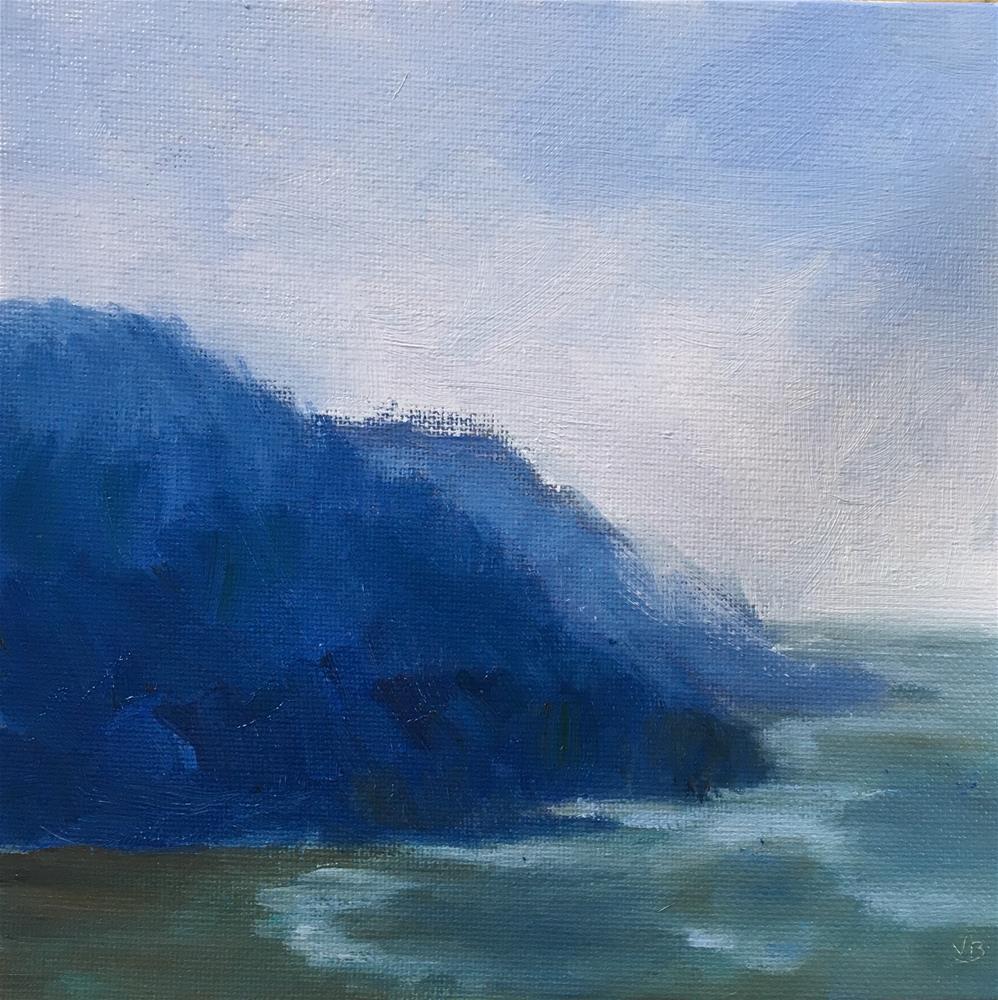 """The Mood of Blue"" original fine art by Victoria  Biedron"