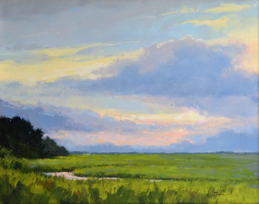 """Luminous Sky - Davis Gallery Holiday Show"" original fine art by Laurel Daniel"