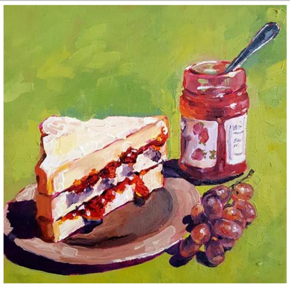 """Picnic Food"" original fine art by Bhavna Misra"