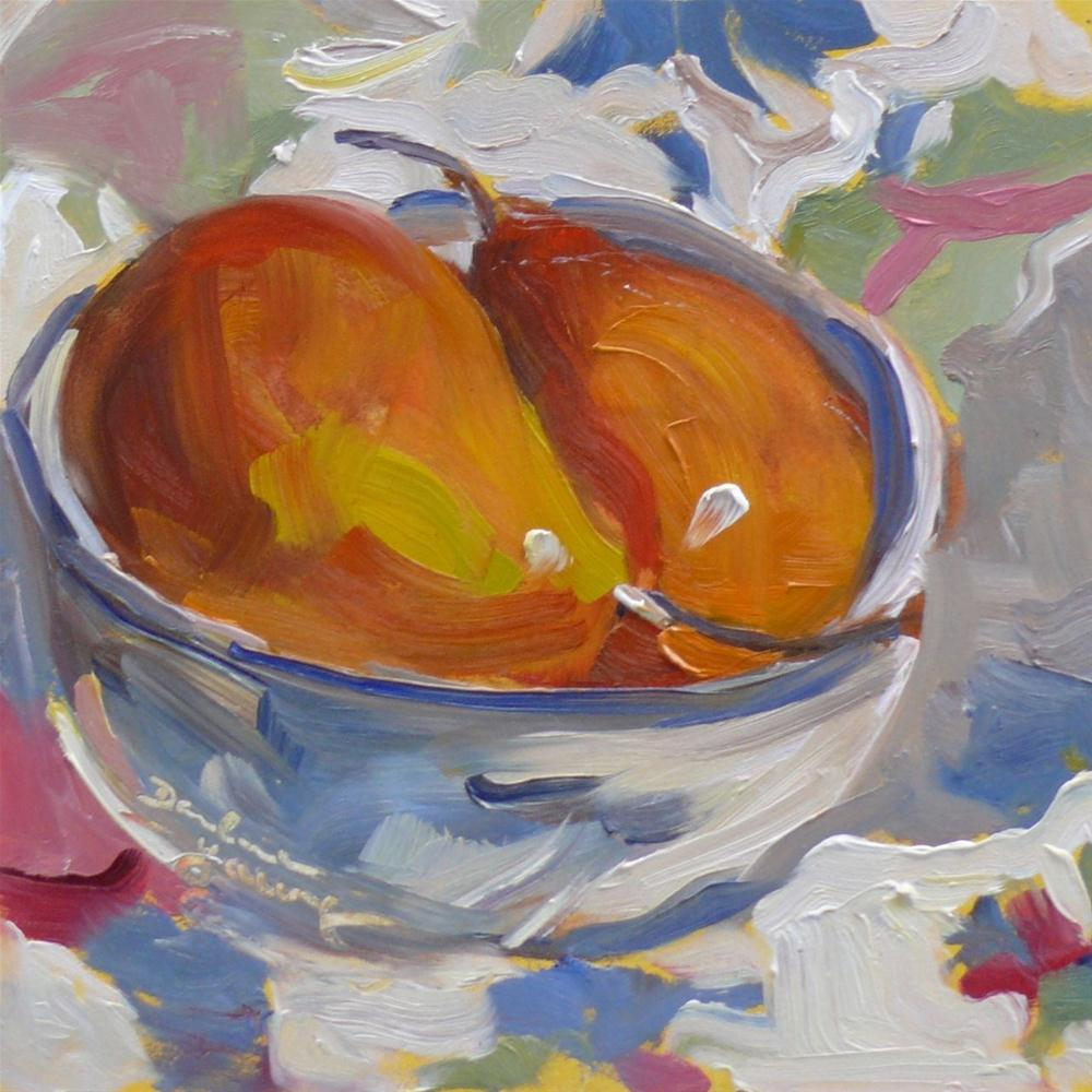 """""""Pears Dreaming"""" original fine art by Darlene Young"""
