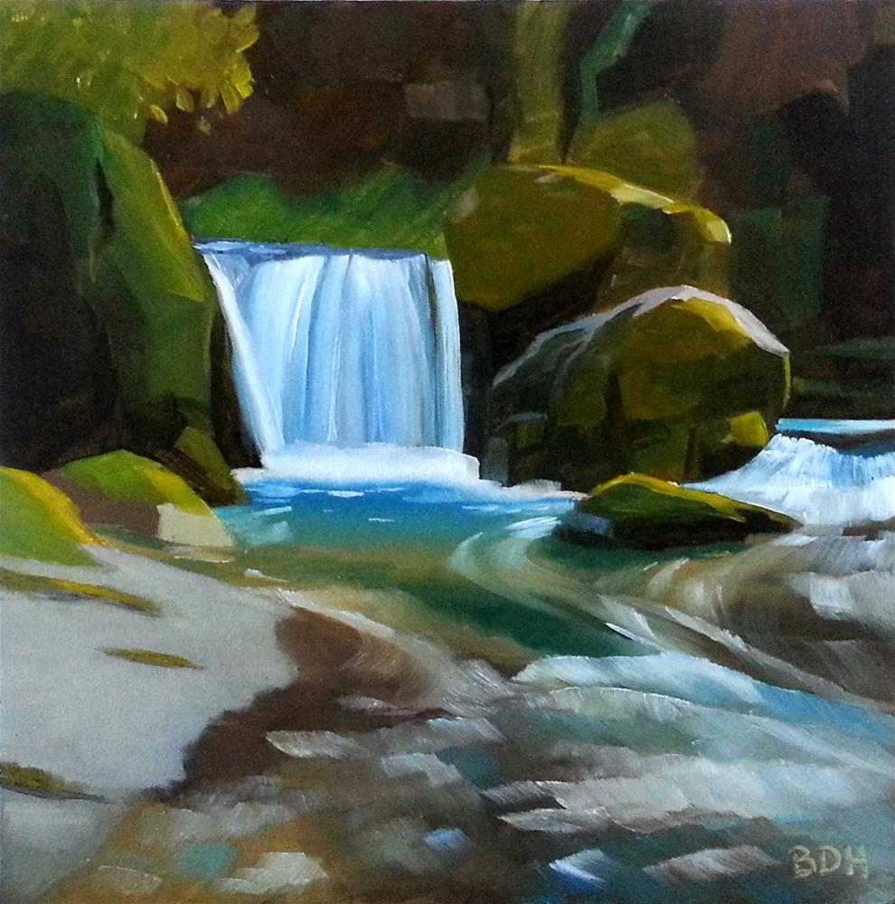"""Forest Stream"" original fine art by Beth Hunt"