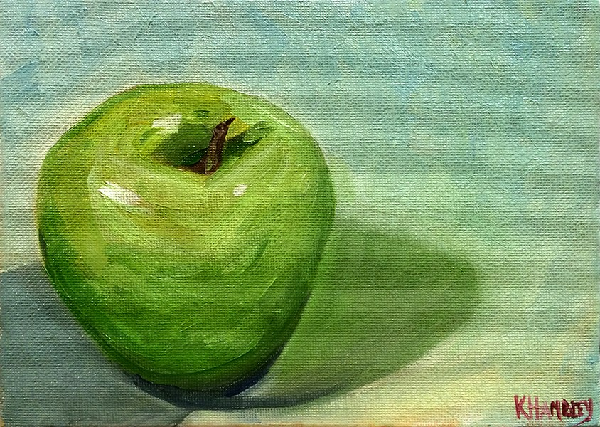 """An Apple A Day..."" original fine art by Katherine Hambley"