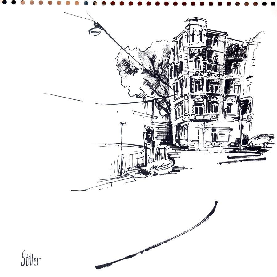 """""""3260 Lichtenbergplatz II"""" original fine art by Dietmar Stiller"""