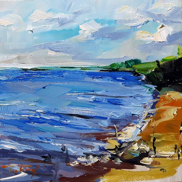 """Along the river"" original fine art by Jurij Frey"
