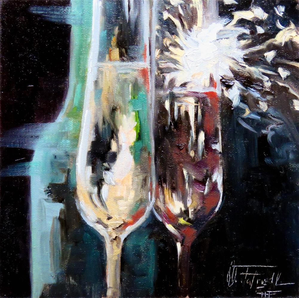 """Happy New Year"" original fine art by Christa Friedl"