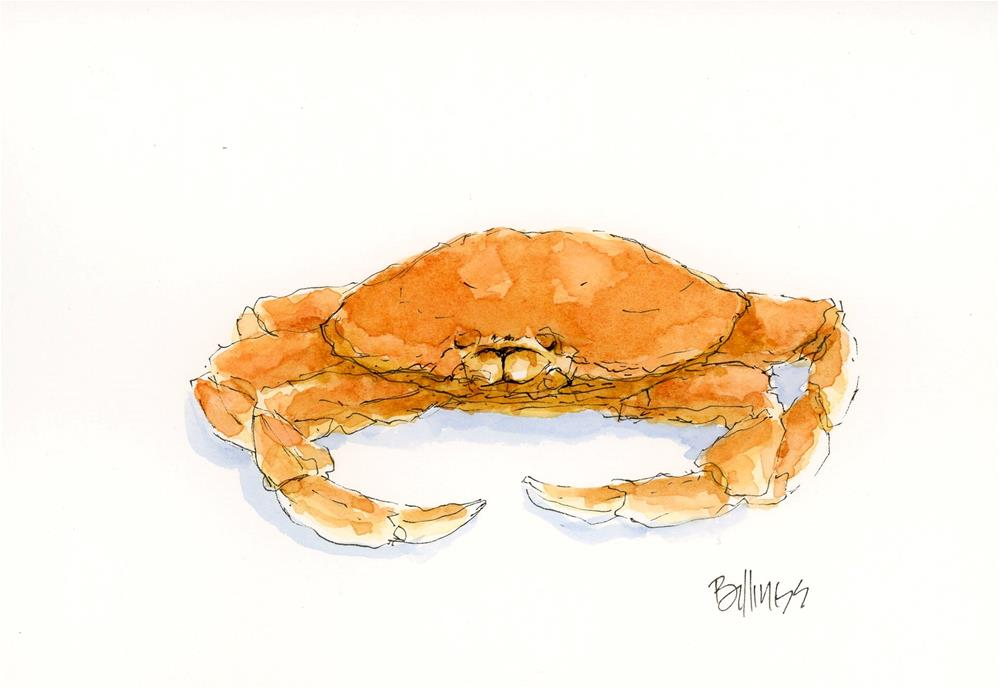 """crabby I"" original fine art by Susanne Billings"