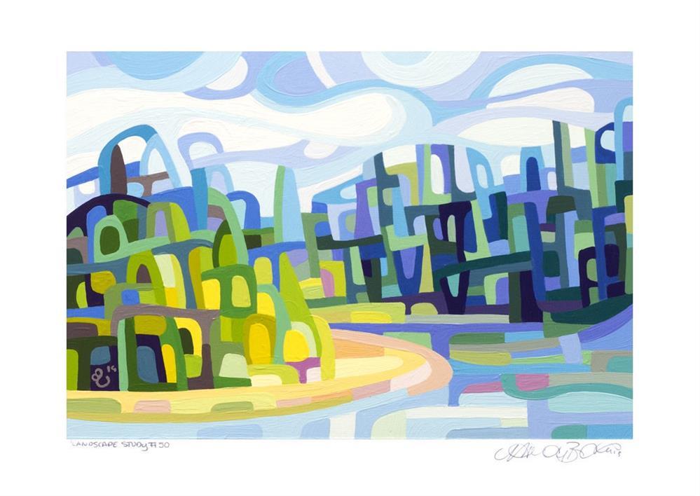 """Landscape Study #50"" original fine art by Mandy Budan"